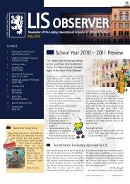 Observer 05/2010 - Leipzig International School