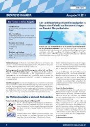 Business Bavaria Newsletter 03 als Download  - Invest in Bavaria