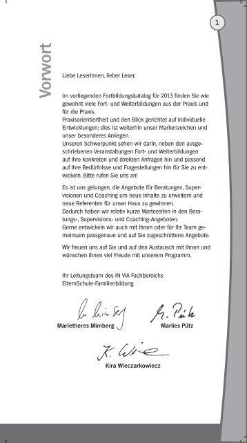 Unsere Referentinnen und Referenten - IN VIA Aachen eV