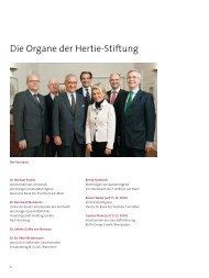Die Organe der Hertie-Stiftung - Gemeinnützige Hertie-Stiftung