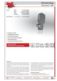 fluid technology flow sensors 1400 - IPF Electronic GmbH