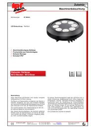 Zubehör Maschinenbeleuchtung - IPF Electronic GmbH