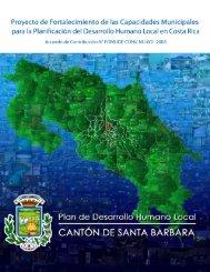 Plan de Desarrollo Humano Local Cantón Santa Barbara