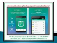 How to install and set up the Kaspersky antivirus on a Smartphone?