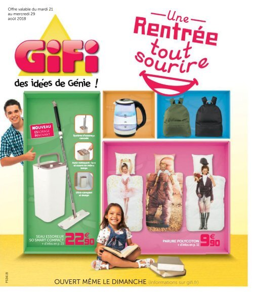 Gifi Catalogue 21 Août 29 Août 2018