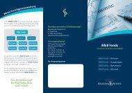 Flyer zu den B&B Fonds - GIP International SA