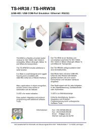 Prospekt TS-Serien und Produkte - gis-net.de