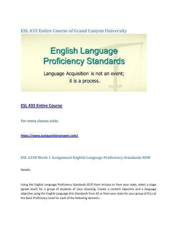 grand canyon university esl 223 language acquisition factors The university's english language requirements are changing from the 2019 entry admissions cycle depending on the course, applicants need to show either a standard or a higher level of ability in english, if specified in the table only these courses accept the standard level: computer science.