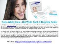 Turbo White Smile - Get White Teeth & Beautiful Smile!