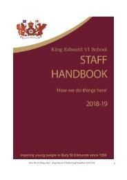 Staff Handbook 2018 - 2019 FINAL