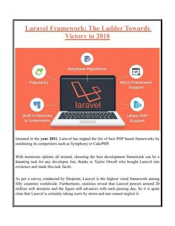 Laravel Framework-The Ladder Towards Victory in 2018