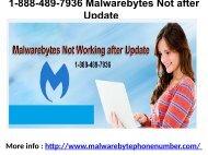 1-888-489-7936 Malwarebytes Not after Update