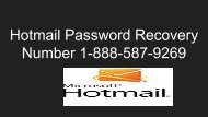 Hotmail Password Recovery Number 1-888-587-9269