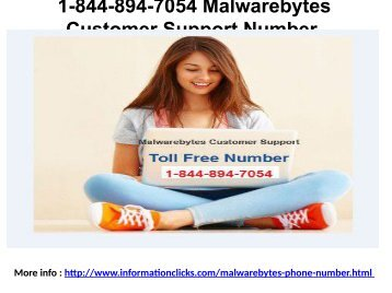 1-844-894-7054 Malwarebytes Customer Support Number