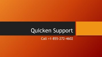 Quicken Technical Support Number