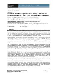 Research Update: Corporate Credit Rating On Denmark- Based ISS  ...