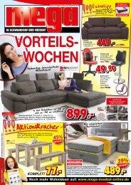 Vorteils-Wochen bei Mega Möbel in Schwandorf und Weiden