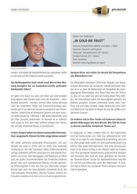 pro aurum Magazin 2/2018