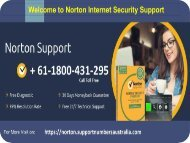 Norton tech support number Australia + 61-1800-431-295