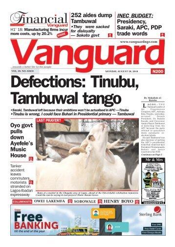 20082018 - Defections: Tinubu, Tambuwal tango