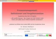 Prozessmanagement: Definitionen und Vorgehensweisen - IUK Institut