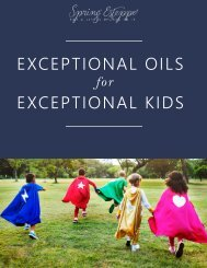 Exceptional Oils for Exceptional Kids