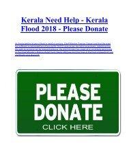 {{Please Donate}} kerala flood 2018 - Kerala floods LIVE: Home Ministry declares floods 'calamity of severe nature'
