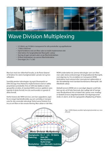 Wave Division Multiplexing - GlobalConnect