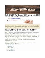 SEO Best eBook  2018 By Shahid Mahmum