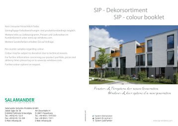 SIP - Dekorsortiment - Global Fensterproduktion GmbH