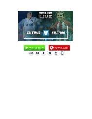 En vivo: Valencia vs Atlético de Madrid En Vivo online