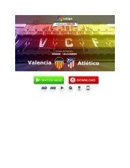 Valencia - Atlético de Madrid En Vivo