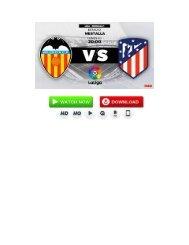 (((Fútbol-2018)))Valencia Atlético de Madrid En Vivo