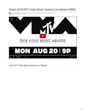Watch 2018 MTV Video Music Awards Live Stream FREE