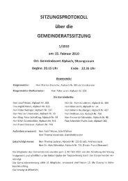 Gemeinderatssitzung (331 KB) - .PDF - Alpbach - Land Tirol
