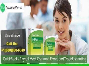QuickBooks Payroll Most Common Errors and also Troubleshooting