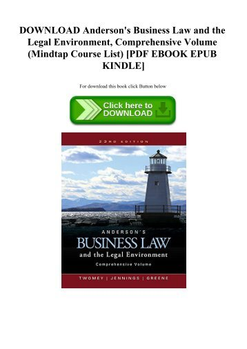 legal environment of business ebook