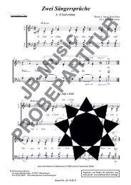 Zwei Sängersprüche (für Gemischten Chor SATB)
