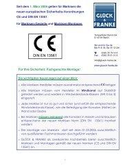 GF-Kundeninfo - DIN EN 13561 - Markisen+Montage - Glück & Franke