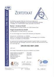ZERTIFIKAT - Jakob Becker Unternehmensgruppe