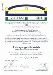 l ZERTIFIKAT. 0338 l - Jakob Becker Unternehmensgruppe