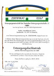 Zertifikat Deckblatt - Jakob Becker Unternehmensgruppe