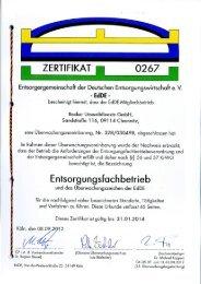 EfbV-Zertifikat - Jakob Becker Unternehmensgruppe