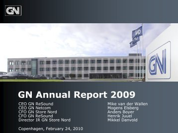 GN Annual Report 2009 - GN Store Nord