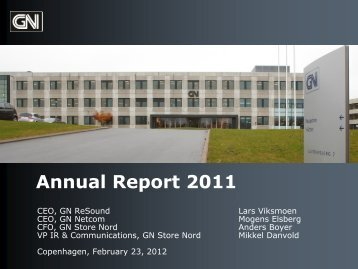 Gn Store Nord Annual Report 2011