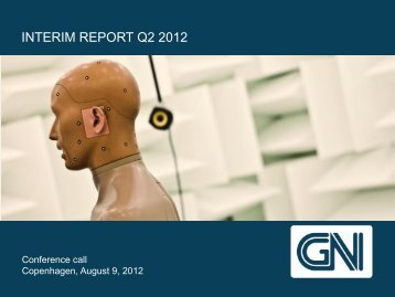 [Interim/Annual] Report [Q2/Full-Year] 2012 - GN Store Nord