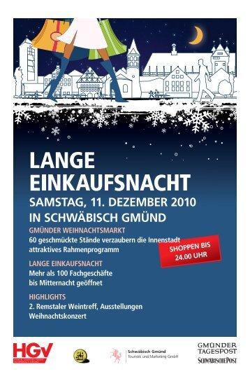 Lange Einkaufsnacht 11.12.2010 - Anzeige
