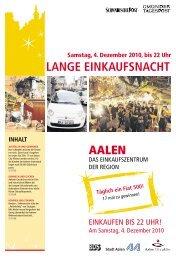 Lange Einkaufsnacht 4.12.2010 - Schwäbische Post