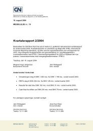 Kvartalsrapport 2/2004 - GN Store Nord
