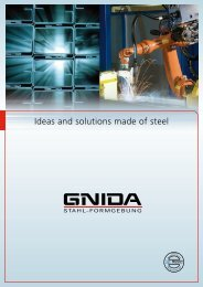 Ideas and solutions made of steel - Alfred Gnida GmbH & Co.